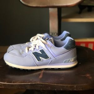 Purple new balance sneakers 574